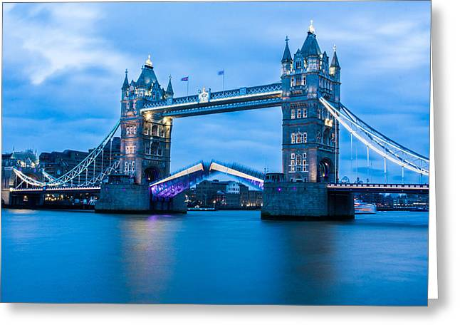 Opening Night Greeting Cards - Tower Bridge Opening Greeting Card by Semmick Photo