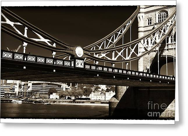 Print Photographs Greeting Cards - Tower Bridge Walk Greeting Card by John Rizzuto