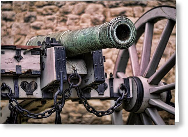 British Royalty Greeting Cards - Tower Canon Greeting Card by Heather Applegate