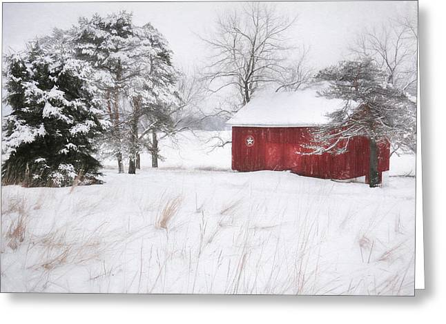 Wintery Barn Greeting Cards - Tower City Farm Greeting Card by Lori Deiter