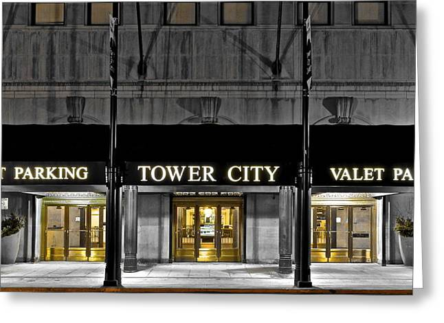 Tower City In Cleveland Ohio Greeting Card by Frozen in Time Fine Art Photography