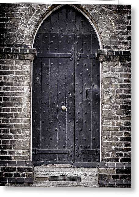 Medieval Entrance Greeting Cards - Tower Door Greeting Card by Heather Applegate