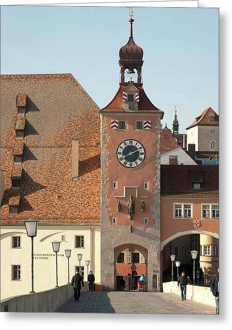 Tower Entrance To Old Town Greeting Card by Dave Bartruff