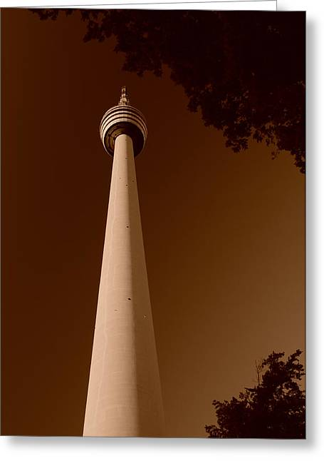 Deutschland Greeting Cards - Tower in the Woods Greeting Card by Miguel Winterpacht