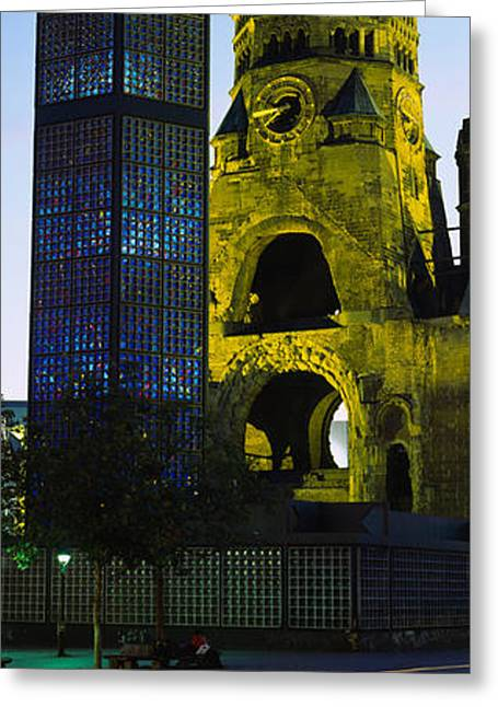 Arches Memorial Photography Greeting Cards - Tower Of A Church, Kaiser Wilhelm Greeting Card by Panoramic Images