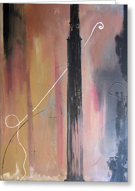 Baghdad Paintings Greeting Cards - Tower of Babel Greeting Card by Gary Smith