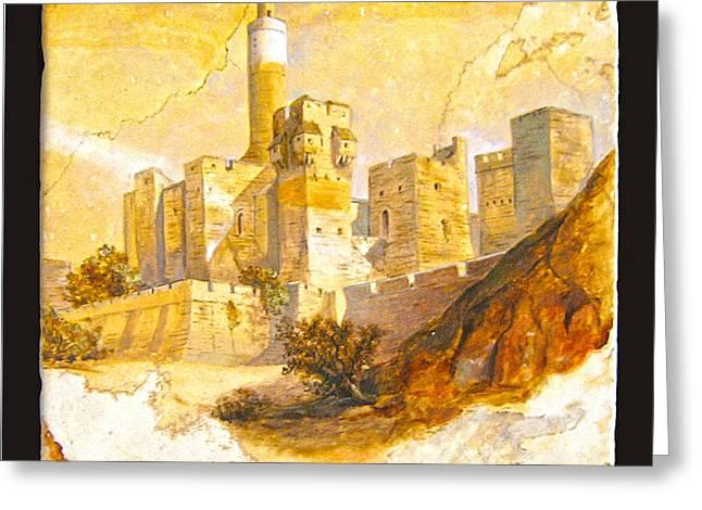 Tower Of David Greeting Card by Miki Karni