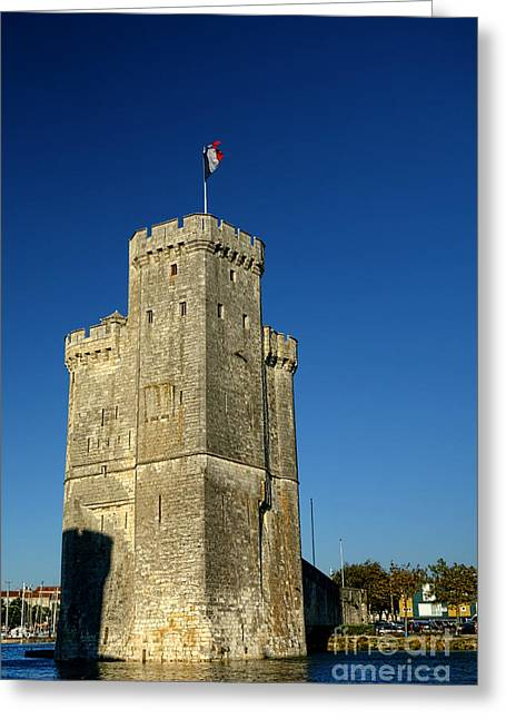 Nicholas Greeting Cards - Tower of La Rochelle Greeting Card by Olivier Le Queinec
