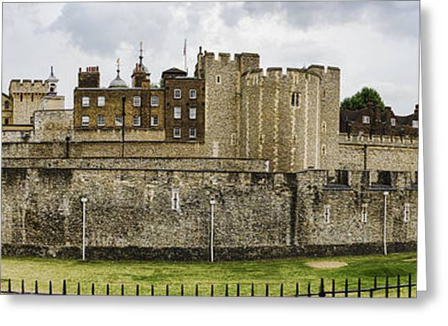 Historic Site Greeting Cards - Tower of London Panorama Greeting Card by Heather Applegate