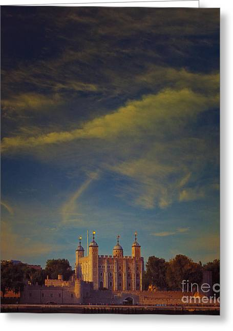 Paul Grand Greeting Cards - Tower of London Greeting Card by Paul Grand
