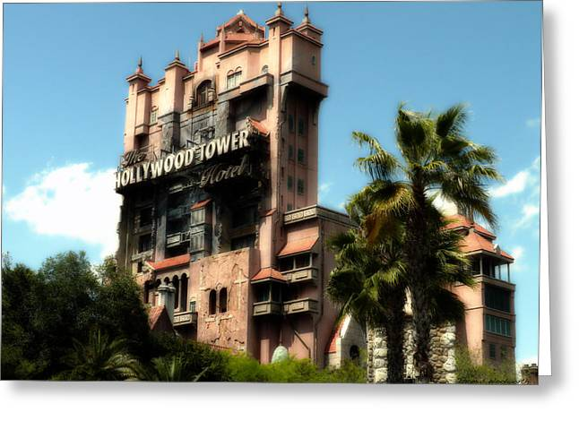 Experimental Prototype Community Of Tomorrow Greeting Cards - Tower Of Terror Walt Disney World Greeting Card by Thomas Woolworth