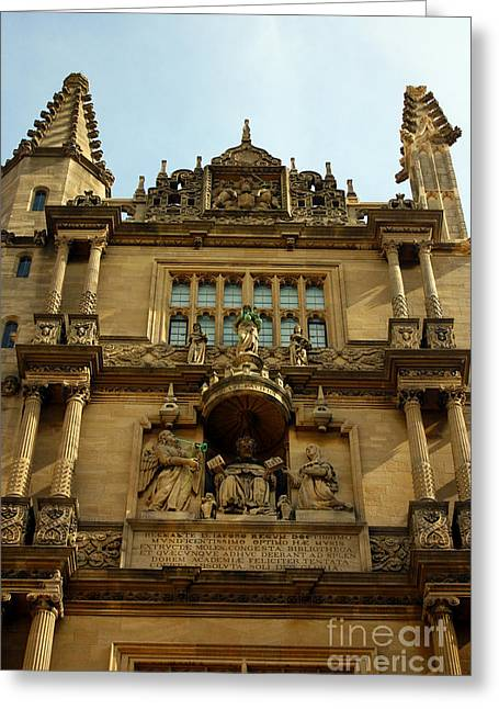 The Quadrangle Greeting Cards - Tower of the Five Orders Bodleian Library Oxford Greeting Card by Terri  Waters