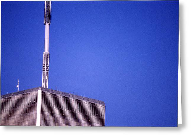 Twin Towers Greeting Cards - Tower One Greeting Card by Jon Neidert