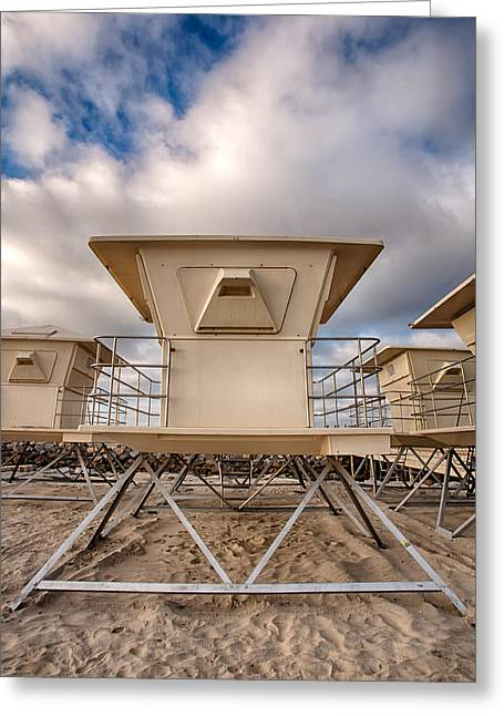 Locations Greeting Cards - Tower Greeting Card by Peter Tellone