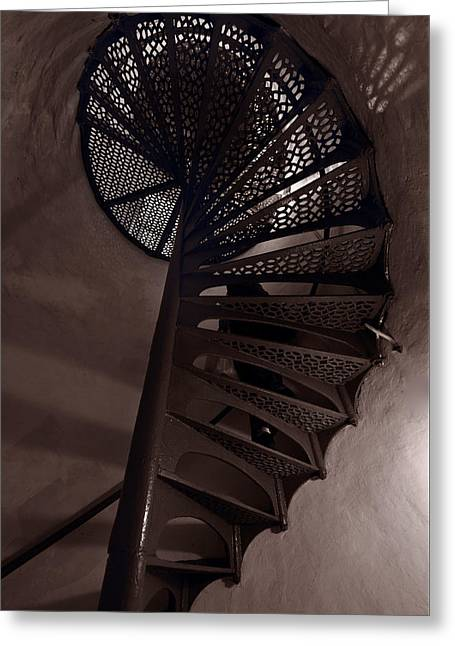 Tower Stairs Greeting Card by Steve Gadomski