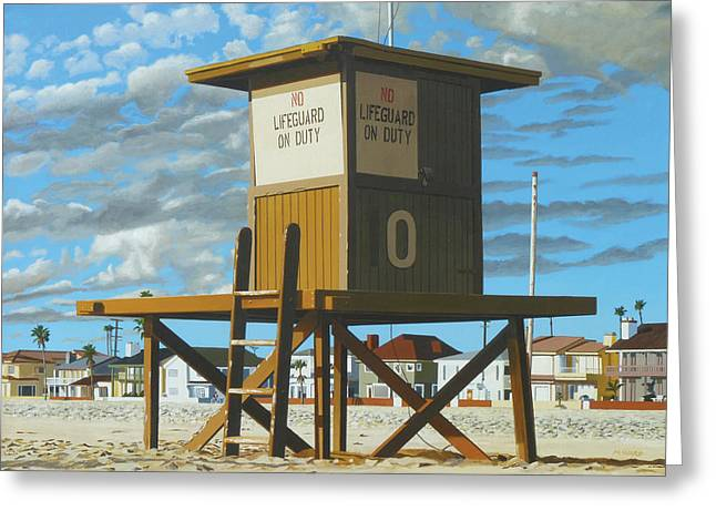 Photorealism Greeting Cards - Tower Zero Greeting Card by Michael Ward