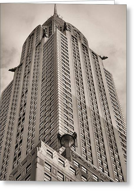Apple Art Greeting Cards - Towering BW Greeting Card by JC Findley