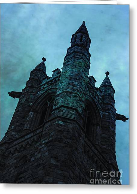 Gothic Dark Church Greeting Cards - Towering Greeting Card by Margie Hurwich