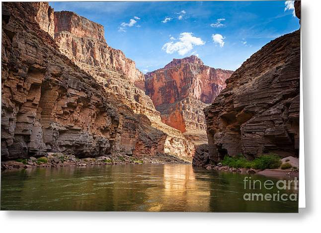 Grand Canyon State Greeting Cards - Towering Walls Greeting Card by Inge Johnsson