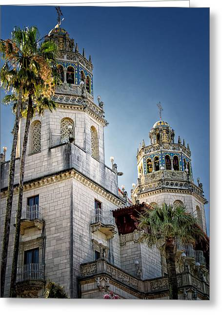 William Randolph Greeting Cards - Towers at Hearst Castle - California Greeting Card by Jon Berghoff