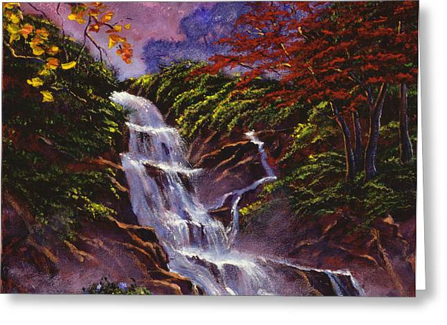 Towers of Mist Greeting Card by David Lloyd Glover