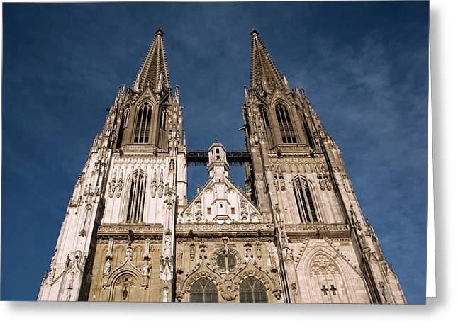 Towers Of St Peter's Cathedral In Old Greeting Card by Dave Bartruff