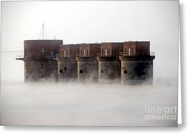 Towers Rising Greeting Card by Skip Willits