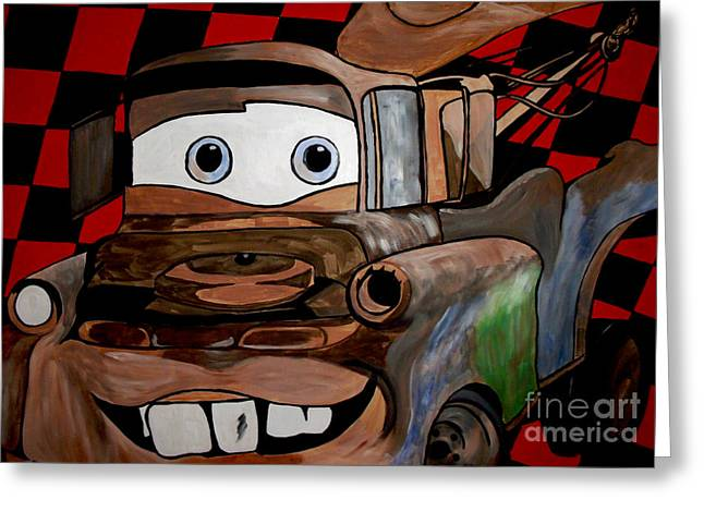 Mark Moore Paintings Greeting Cards - Towmater Wall Mural Greeting Card by Mark Moore