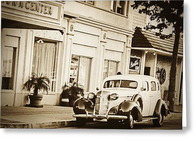 Film Noir Photographs Greeting Cards - Town Center Greeting Card by Caitlyn  Grasso