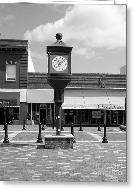 Old Roadway Greeting Cards - Town Clock Greeting Card by D Hackett