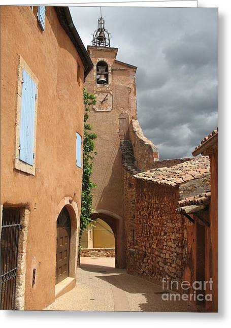 Provence Village Greeting Cards - Town Gate Village Roussillion Greeting Card by Christiane Schulze Art And Photography