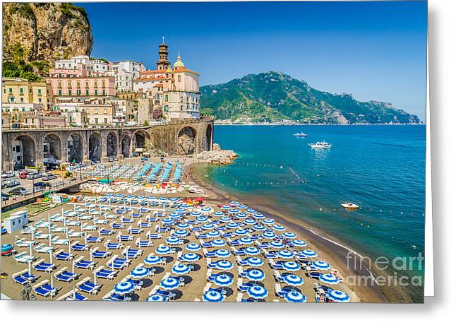 Town Of Atrani Greeting Card by JR Photography
