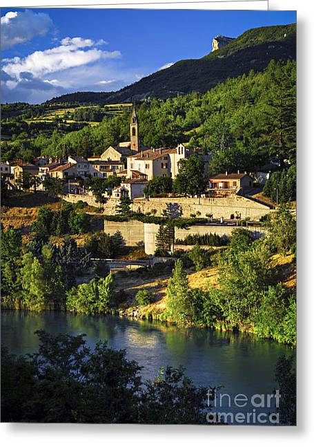 Haute Greeting Cards - Town of Sisteron in Provence Greeting Card by Elena Elisseeva