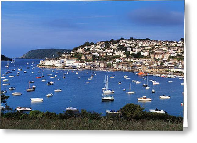 Evening Scenes Greeting Cards - Town On An Island, Salcombe, South Greeting Card by Panoramic Images