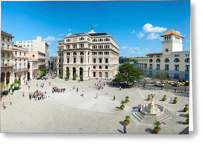 Town Square Greeting Cards - Town Square, Plaza De San Francisco Greeting Card by Panoramic Images