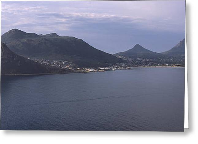 Cape Town Greeting Cards - Town Surrounded By Mountains, Hout Bay Greeting Card by Panoramic Images
