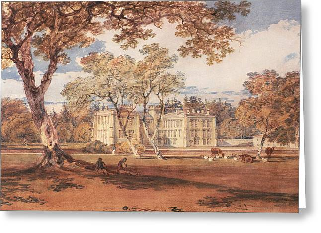 Autumn Drawings Greeting Cards - Towneley Hall, C.1798 Greeting Card by Joseph Mallord William Turner