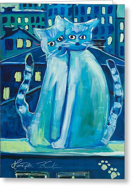 Nocturnal Animal Print Greeting Cards - Townhouses and lofts Greeting Card by Malgorzata Kruk