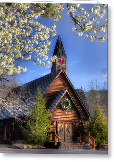 Rural Church Greeting Cards - Townsend Church Greeting Card by Michael Eingle