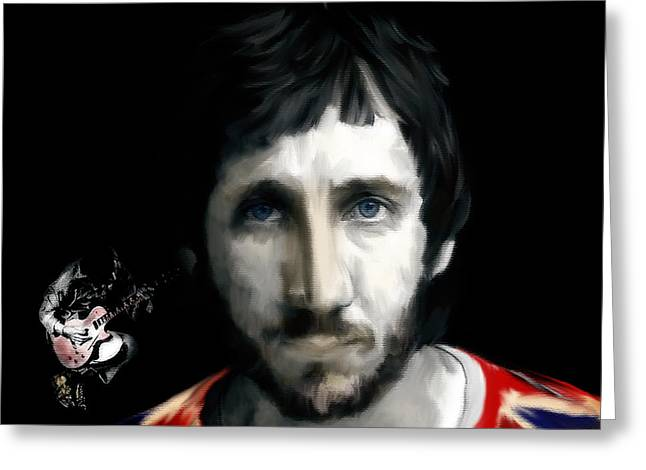 Art Lithographs Greeting Cards - Townshend Pete Townshend Greeting Card by Iconic Images Art Gallery David Pucciarelli