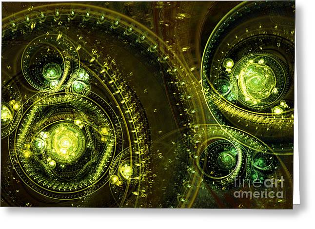 Cog Greeting Cards - Toxic dream Greeting Card by Martin Capek