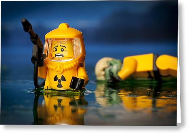 Lego Greeting Cards - Toxic Dump Greeting Card by Samuel Whitton