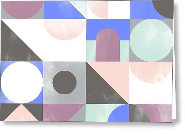 Patterns Paintings Greeting Cards - Toy Blocks Greeting Card by Laurence Lavallee