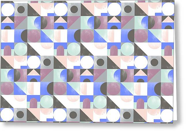 Patterns Paintings Greeting Cards - Toy Blocks small Greeting Card by Laurence Lavallee