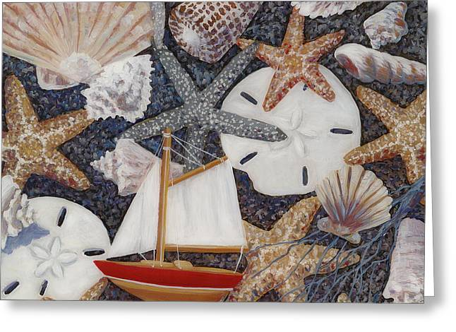 Toy Boat Paintings Greeting Cards - Toy Boat Greeting Card by Danielle  Perry
