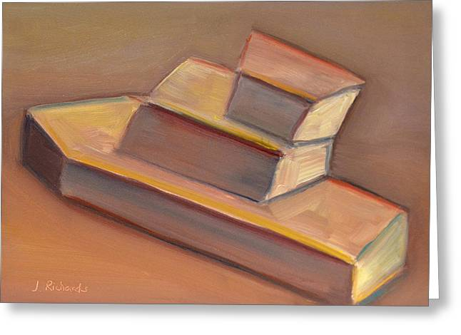 Toy Boat Paintings Greeting Cards - Toy boat Greeting Card by Jennifer Richards