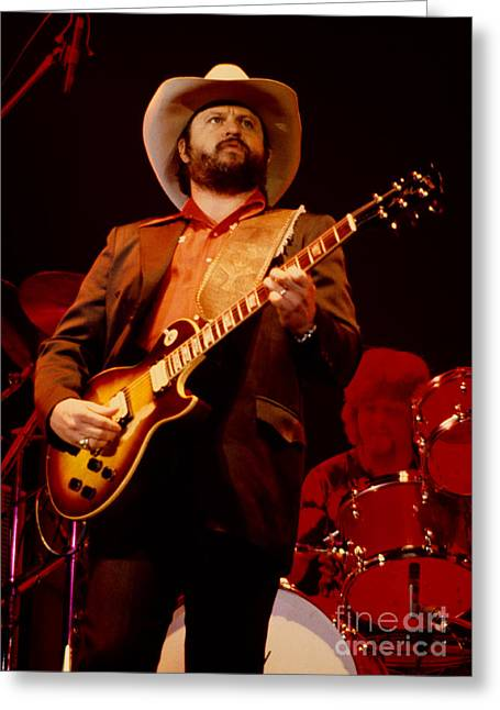 80s Greeting Cards - Toy Caldwell of The Marshall Tucker Band at The Cow Palace Greeting Card by Daniel Larsen