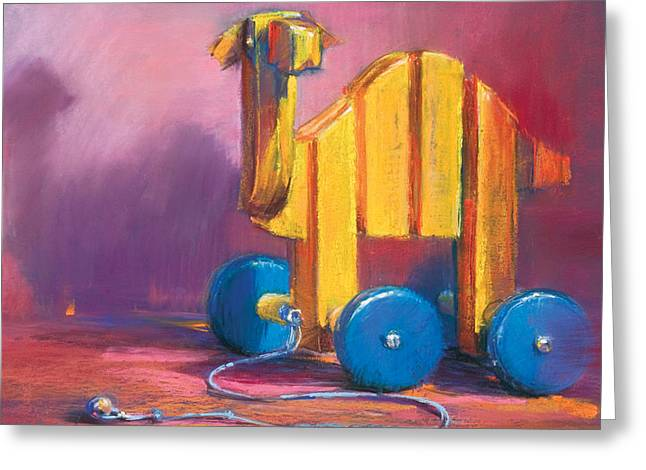 Child Toy Pastels Greeting Cards - Toy Camel Greeting Card by Beverly Amundson