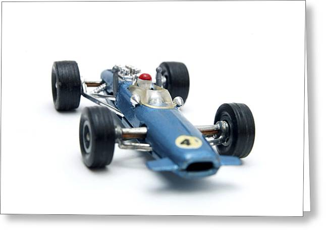 Blue Car. Greeting Cards - Toy car Greeting Card by Bernard Jaubert
