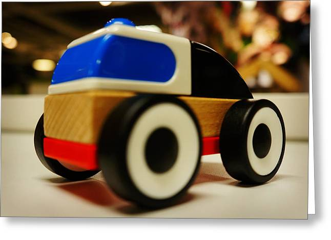 Drive In Style Greeting Cards - Toy Car Greeting Card by Celestial Images